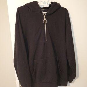 Cozy hoodie with faux fur hood